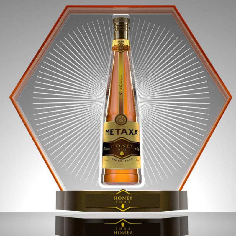 METAXA Honey Shot / bar display proposals