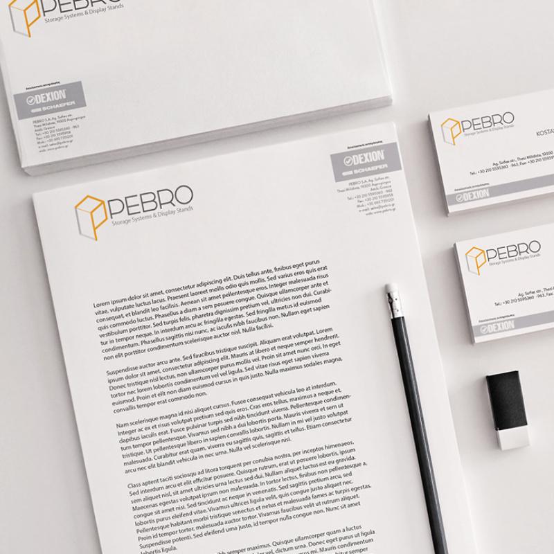 Pebro Logo & ID